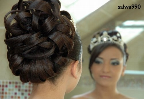 coiffure mariage arabe