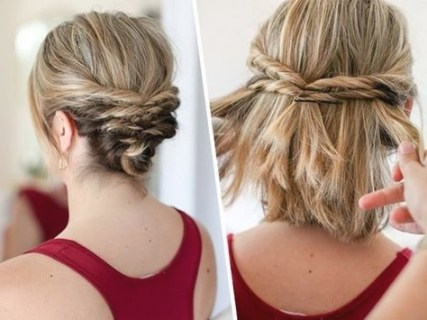 coiffure mariage carre court