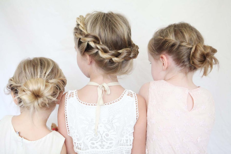 coiffure mariage fille 5 ans