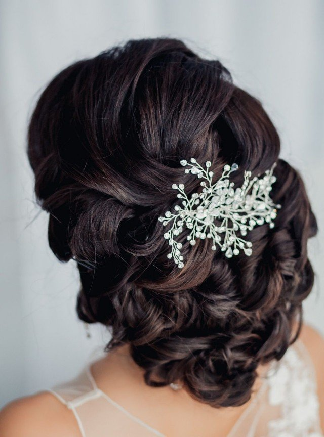 coiffure mariage grosse boucle