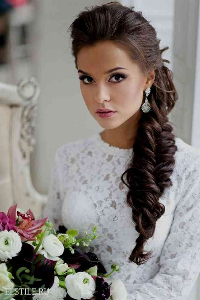 Coiffure Mariage Tresse Cote Maquillage Mariage