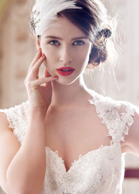 maquillage mariage levre rouge