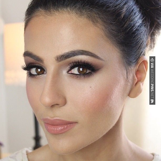 maquillage mariage pour brune yeux marrons
