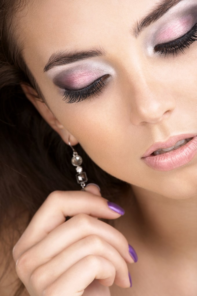 maquillage mariage rose et gris