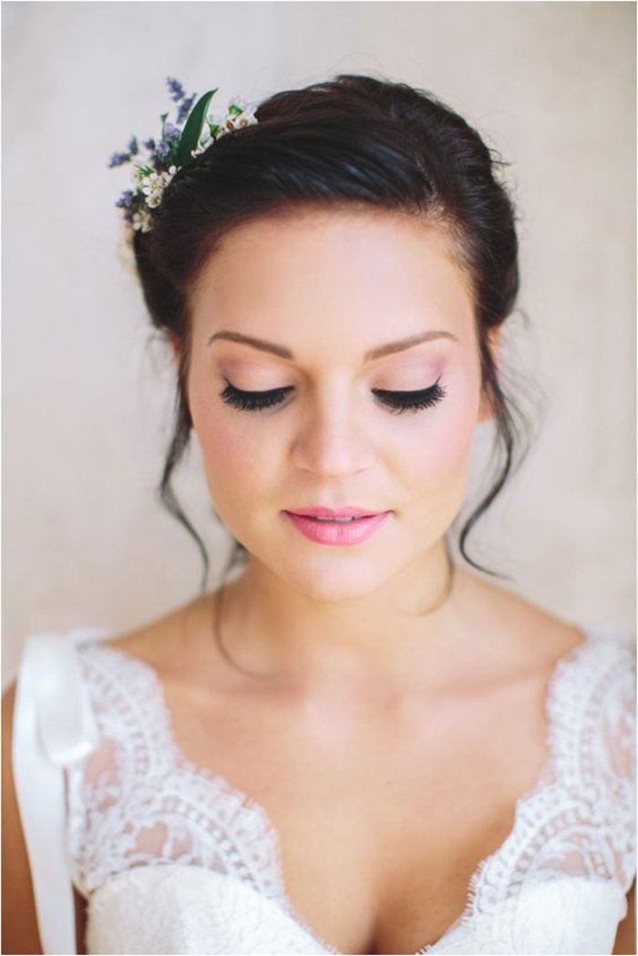 maquillage mariage rose poudre