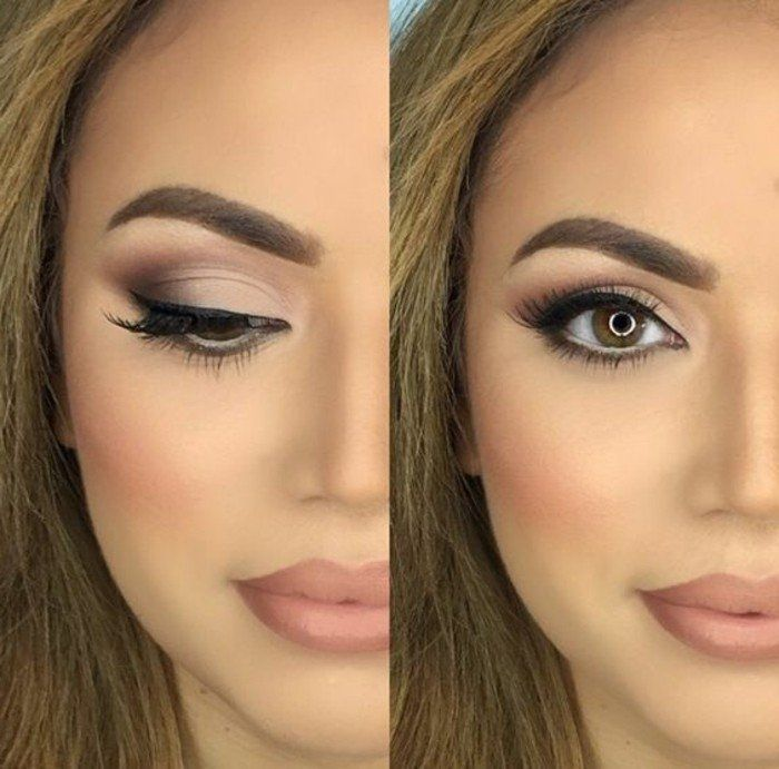 maquillage mariage yeux marrons